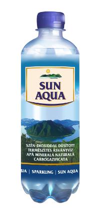 Sun Aqua természetes ásványvíz szénsavas 0,5L