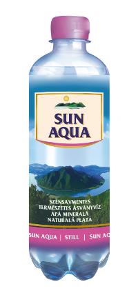 Sun Aqua természetes ásványvíz szénsavmentes 0,5L